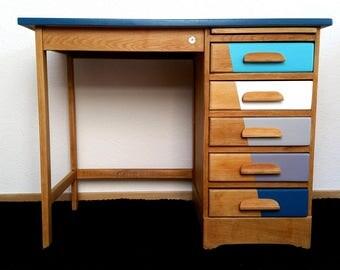 Vintage desk relooked JB registered model