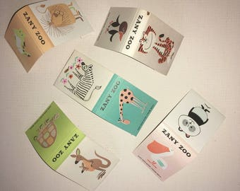 Zany Zoo Match Book Set