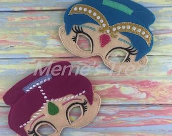 Adventure Felt Mask - Deluxe Felt Mask -- Kids Mask – Costume – Dress-Up -- Halloween -- Pretend Play -- Inspired by Shimmer & Shine