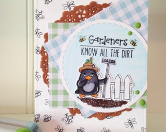 Homemade Greeting Card Gardeners Know All The Dirt Birthday Thank You Thinking of You