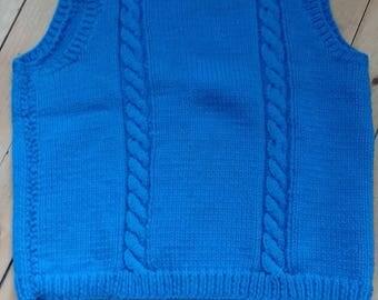 Hand Knit Men's Vest