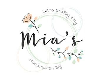 Floral Logo Design | Craft Logo | Flower Logo | Crafty Logo | Logo Design | Premade Logo | Logo | Business Logo