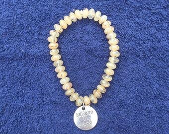 Bead Stretch Bracelet with charm