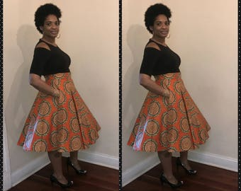 African flare skirt