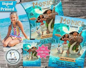 Moana Invite, Moana Invitation, Disney Moana, Disney Moana Party, Moana  Birthday Invitation, Moana Birthday Party, Moana,