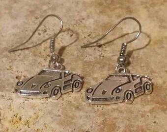 Porsche Car, Charm, Best Friend Gift, Car Lover, Sports Car, Earrings. Dangle, Drop
