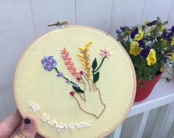 All Things Grow Embroidery Hoop