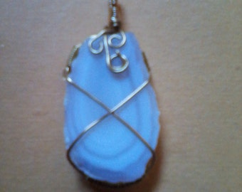 Natural chalcedony gemstone, Hand made