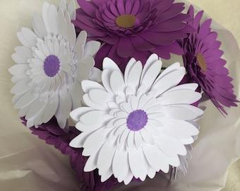 Small paper flower bouquet, gift bouquet, daisy bouquet, any color! Graduation, teacher gift, dance recital, anniversary, proposal bouquet