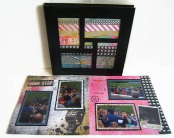 Teen Scrapbook Album - Rock Concert Scrapbook Album - Teen Gift - Band Concert Scrapbook - Band Gig Scrapbook Album - Rock Star Scrapbook
