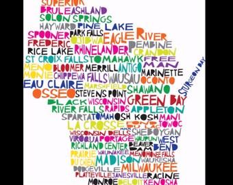 Wisconsin Shirt- Wisconsin Sweatshirt - Wisconsin Hoodie- Wisconsin Word Art- I Love Wisconsin- Home Sweet Home- Custom Embroidery