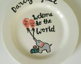 New baby plate