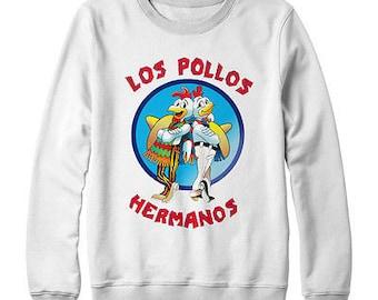 Los Pollos Hermanos Breaking Bad Mens Womans Sweater Hoodie Jumper White New New