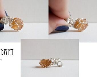 Hessonite Garnet Pendant