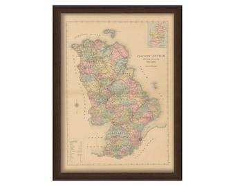 County Antrim - Memorial Atlas of Ireland 1901