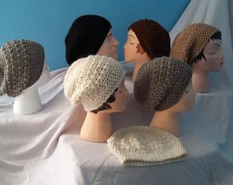 Crocheted Alpaca Slouchy Hats