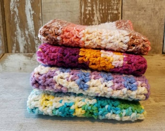Wash Cloths, Dish Cloths, Dish Rags, 100 % Cotton