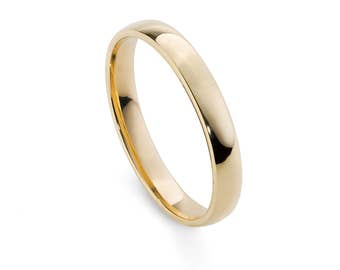 9ct Yellow Gold, Ethical, 3mm Wedding Ring