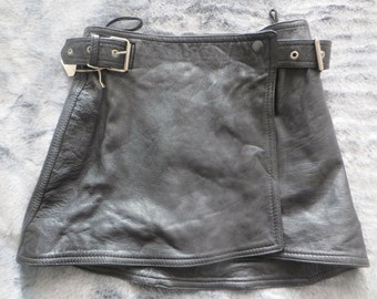 Leather Short/wrap leather short/ladies/women/girls/leather short/genuine leather short/black leather short/