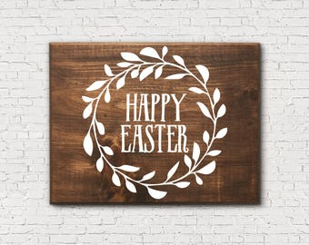 Happy Easter Decor - Primitive Easter - Easter Wood Sign - Rustic Easter Decor - Easter Sign - Easter Decorations - Easter Decor - Wood Sign