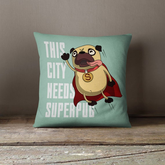 Pug Decor | Pug Cushion | Pug Home Decor | Pug Pillow | Pug Throw Pillow | Pug Pillow Cover | Pug Gift |