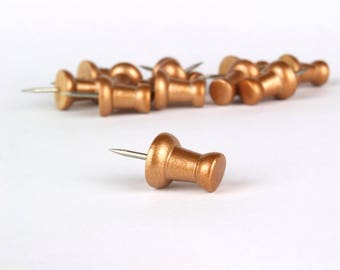 Push Pins, Push Pin, Copper Push Pins, Copper Stationery, Rustic Push Pins, Copper Home Decor, Copper Desk Decor, Copper, Copper Accessories