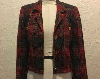 Vintage Jacket- Vintage KGR Red Plaid Jacket