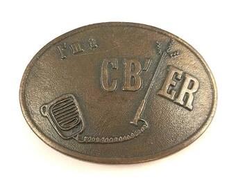 Vintage Brass I'm a CB'er Belt Buckle