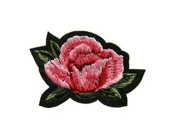 Pink Flower Patches DIY Applique Iron on Patch