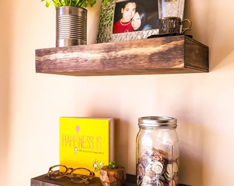 Set of Two (2) Customized Floating Wall Shelves