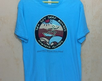 1998 Sea Sky Surf Boards Hawaiian Islands T-shirt Adult Medium Size