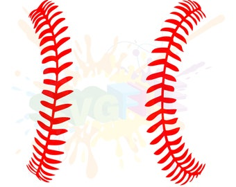 Baseball Stitches SVG Files for Cutting Softball Cricut Laces - SVG Files for Silhouette - Instant Download