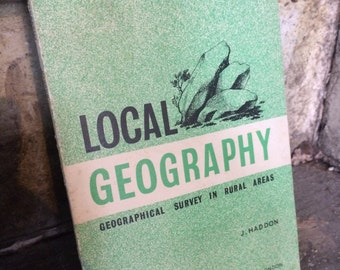 Vintage Geography Book, Reference Book, Geography Gift, Local Geography, Geographical Survey Book, Rural Areas, Vintage Science Book