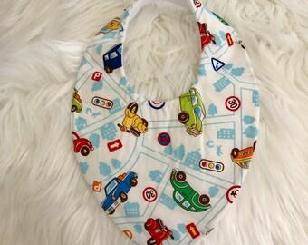 Baby Dribble Bib, cars