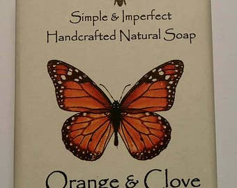 Orange and Clove Soap, Handcrafted Soap, Natural Soap, Cold Process Soap, Soap, Natural Soap, Bar Soap, Bath Soap, Bath and Body