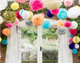 Pom poms, PomPoms, pom poms, color combination, 1 euro