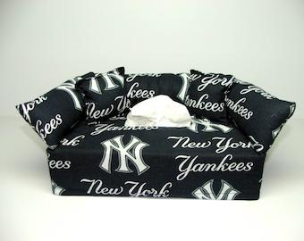 New York Yankees MLB Licensed fabric tissue box cover.