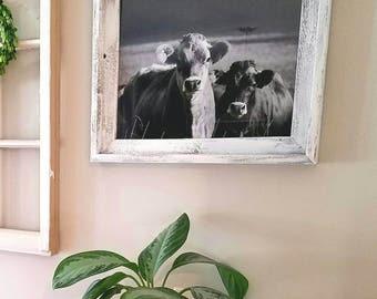White distressed Barnwood frame