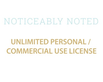 Unlimited Personal / Commercial Use License