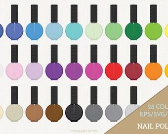 Nail Polish Vector, Polish Clipart, Nail Polish Bottle Art, Nail SVG, Polish PNG  (Design 13758)