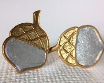 Acorn Stud Earrings, Silver and Gold Studs, Brass Acorn,  Christmas stocking stuffer, Squirrel Stud Earrings, Woodland Jewelry, Gardener