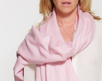 Silk Cashmere Woven Shawl - Scarf - Travel Wrap in Pink Orchid -  Premium Yarn - Handwoven - Chic - Perfect for Layering or Travel