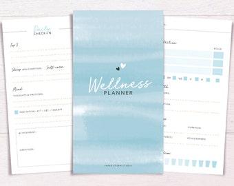 Planificateur de bien-être   PERSONNEL de TAILLE • santé & Fitness • bien-être planificateur • santé Journal • entraînement planificateur • imprimable Inserts