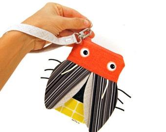 Firefly Zipper Pouch - iPhone Wristlet - Lightening Bug Coin Pouch - Kids Gadget Bag - Teen Phone Case - Cute Gift for Teen  - Ready to Ship