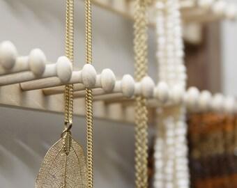 Jewellery organizer -  large -  walnut and maple hardwood