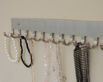 Modern Jewellery Holder, Jewelry, Necklace, Organizer, Stainless Steel, Simple, 12 inches