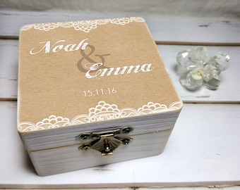 Personalized Engagement Ring Box - Personalized Wedding Ring Box - Personalized Engagement Ring Holder - Personalized Wedding Ring Holder
