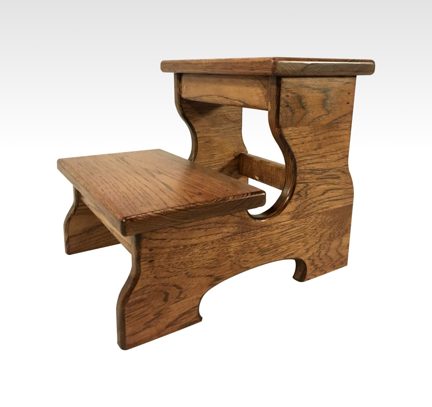 Two Step Stool By Candlewood Furniture Rustic Wood Wooden