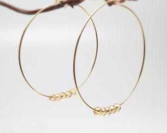 Gold hoop earrings, thin hoops, beaded hoop earrings, hoop earring, silver hoops, gold hoops, dangle hoops earrings, big hoop earrings,
