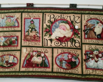 Santa I Believe Wallhanging